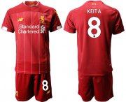Wholesale Cheap Liverpool #8 Keita Red Home Soccer Club Jersey