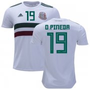 Wholesale Cheap Mexico #19 O.Pineda Away Soccer Country Jersey