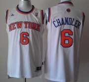 Wholesale Cheap New York Knicks #6 Tyson Chandler Revolution 30 Swingman 2013 White Jersey