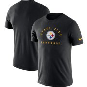 Wholesale Cheap Pittsburgh Steelers Nike Sideline Local Performance T-Shirt Black