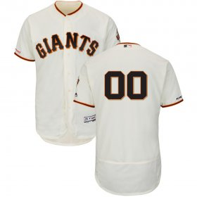 Wholesale Cheap San Francisco Giants Majestic Home Flex Base Authentic Collection Custom Jersey Cream