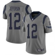 Wholesale Cheap Nike Rams #12 Van Jefferson Gray Men's Stitched NFL Limited Inverted Legend Jersey