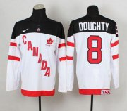 Wholesale Cheap Olympic CA. #8 Drew Doughty White 100th Anniversary Stitched NHL Jersey