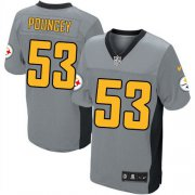 Wholesale Cheap Nike Steelers #53 Maurkice Pouncey Grey Shadow Men's Stitched NFL Elite Jersey