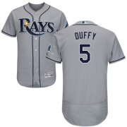 Wholesale Cheap Rays #5 Matt Duffy Grey Flexbase Authentic Collection Stitched MLB Jersey