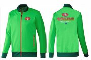Wholesale Cheap NFL San Francisco 49ers Victory Jacket Green