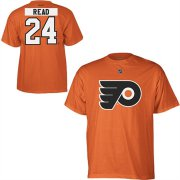 Wholesale Cheap Philadelphia Flyers #24 Matt Read Reebok Name and Number Player T-Shirt Orange