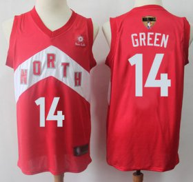 Wholesale Cheap Raptors #14 Danny Green Red 2019 Finals Bound Basketball Swingman Earned Edition Jersey