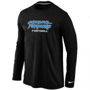 Wholesale Cheap Nike Carolina Panthers Authentic Font Long Sleeve T-Shirt Black