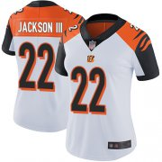 Wholesale Cheap Nike Bengals #22 William Jackson III White Women's Stitched NFL Vapor Untouchable Limited Jersey