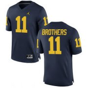 Wholesale Cheap Men's Michigan Wolverines #11 Wistert Brothers Navy Blue Stitched College Football Brand Jordan NCAA Jersey