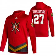 Wholesale Cheap Vegas Golden Knights #27 Shea Theodore Adidas Reverse Retro Pullover Hoodie Red