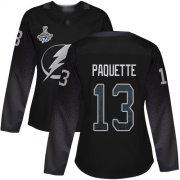 Cheap Adidas Lightning #13 Cedric Paquette Black Alternate Authentic Women's 2020 Stanley Cup Champions Stitched NHL Jersey
