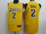 Wholesale Cheap Lakers 2 Lonzo Ball Gold 2018-19 Nike Authentic Jersey
