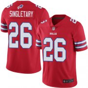 Wholesale Cheap Nike Bills #26 Devin Singletary Red Men's Stitched NFL Limited Rush Jersey
