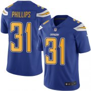Wholesale Cheap Nike Chargers #31 Adrian Phillips Electric Blue Men's Stitched NFL Limited Rush Jersey