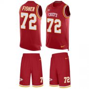Wholesale Cheap Nike Chiefs #72 Eric Fisher Red Team Color Men's Stitched NFL Limited Tank Top Suit Jersey