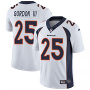 Wholesale Cheap Nike Broncos #25 Melvin Gordon III White Men's Stitched NFL Vapor Untouchable Limited Jersey