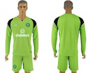 Wholesale Cheap Celtic Blank Green Goalkeeper Long Sleeves Soccer Club Jersey