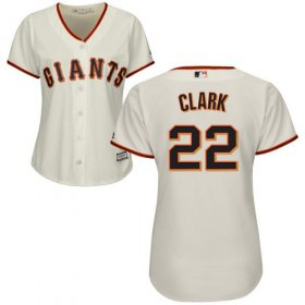 Wholesale Cheap Giants #22 Will Clark Cream Home Women\'s Stitched MLB Jersey