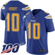 Wholesale Cheap Nike Chargers #10 Justin Herbert Electric Blue Men's Stitched NFL Limited Rush 100th Season Jersey