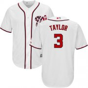 Wholesale Cheap Nationals #3 Michael Taylor White New Cool Base Stitched MLB Jersey