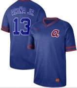 Wholesale Cheap Nike Braves #13 Ronald Acuna Jr. Royal Authentic Cooperstown Collection Stitched MLB Jersey