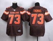 Wholesale Cheap Nike Browns #73 Joe Thomas Brown Team Color Men's Stitched NFL New Elite Jersey