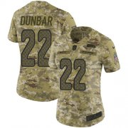 Wholesale Cheap Nike Seahawks #22 Quinton Dunbar Camo Women's Stitched NFL Limited 2018 Salute To Service Jersey