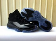 Wholesale Cheap Womens Air Jordan 11 Black Gamma Night Black/Gamma Blue