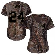 Wholesale Cheap Mets #24 Robinson Cano Camo Realtree Collection Cool Base Women's Stitched MLB Jersey