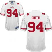 Wholesale Cheap 49ers #94 Justin Smith White Stitched NFL Jersey