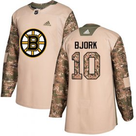 Wholesale Cheap Adidas Bruins #10 Anders Bjork Camo Authentic 2017 Veterans Day Youth Stitched NHL Jersey