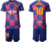 Wholesale Cheap Barcelona #10 Messi 20th Anniversary Edition Home Soccer Club Jersey