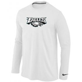 Wholesale Cheap Nike Philadelphia Eagles Authentic Logo Long Sleeve T-Shirt White