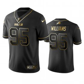 Wholesale Cheap Nike Bills #95 Kyle Williams Black Golden Limited Edition Stitched NFL Jersey