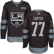 Wholesale Cheap Adidas Kings #77 Jeff Carter Black 1917-2017 100th Anniversary Stitched NHL Jersey
