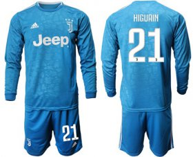 Wholesale Cheap Juventus #21 Higuain Third Long Sleeves Soccer Club Jersey