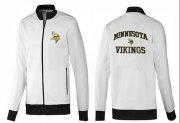 Wholesale Cheap NFL Minnesota Vikings Heart Jacket White