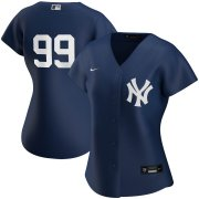 Wholesale Cheap New York Yankees #99 Aaron Judge Nike Women's 2020 Spring Training Home MLB Player Jersey Navy