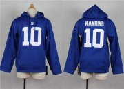 Wholesale Cheap Nike Giants #10 Eli Manning Royal Blue Youth Player NFL Hoodie