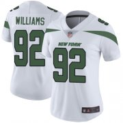 Wholesale Cheap Nike Jets #92 Leonard Williams White Women's Stitched NFL Vapor Untouchable Limited Jersey