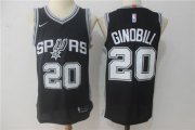 Wholesale Cheap Men's San Antonio Spurs #20 Manu Ginobili Black Nike Jersey