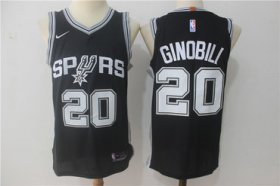 Wholesale Cheap Men\'s San Antonio Spurs #20 Manu Ginobili Black Nike Jersey