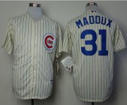 Wholesale Cheap Cubs #31 Greg Maddux Cream 1969 Turn Back The Clock Stitched MLB Jersey