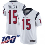 Wholesale Cheap Nike Texans #15 Will Fuller V White Men's Stitched NFL 100th Season Vapor Limited Jersey
