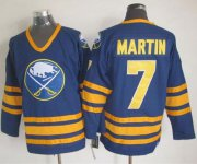 Wholesale Sabres #7 Rick Martin Navy Blue CCM Throwback Stitched NHL Jersey