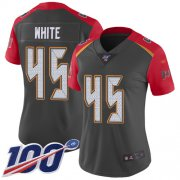 Wholesale Cheap Nike Buccaneers #45 Devin White Gray Women's Stitched NFL Limited Inverted Legend 100th Season Jersey