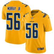 Wholesale Cheap Nike Chargers #56 Kenneth Murray Jr Gold Men's Stitched NFL Limited Inverted Legend Jersey
