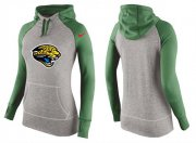 Wholesale Cheap Women's Nike Jacksonville Jaguars Performance Hoodie Grey & Green